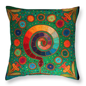 Shaman Serpent Ritual Throw Pillow