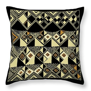 Throw Pillow featuring the digital art Shaman Tribal Kuba by Vagabond Folk Art - Virginia Vivier
