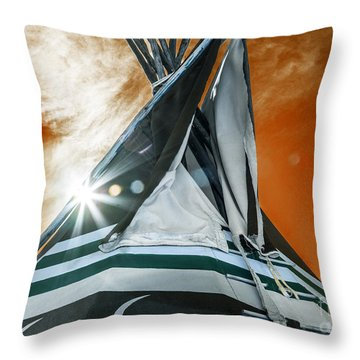 Shamans Tipi Throw Pillow