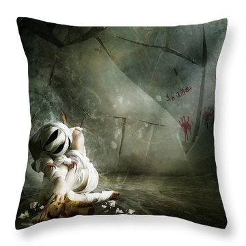 Shame Throw Pillow by Mary Hood