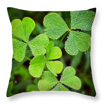 Shamrock Green Throw Pillow