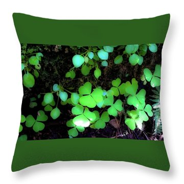 shamrocks #1A Throw Pillow