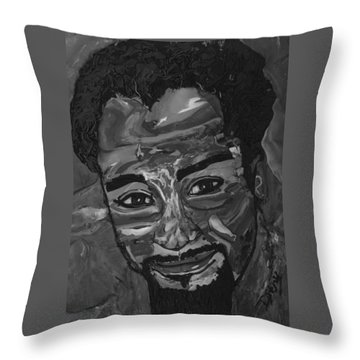 Shane In Black And White Throw Pillow