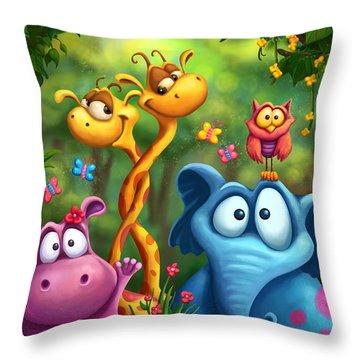 Shangagel Boogie Throw Pillow