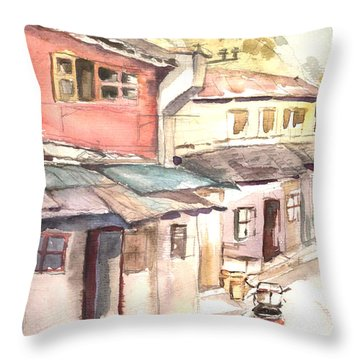 Shanghai Afternoon Throw Pillow