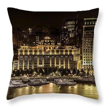 Shanghai Nights Throw Pillow