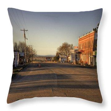 Shaniko Oregon  Throw Pillow by Lee  Santa