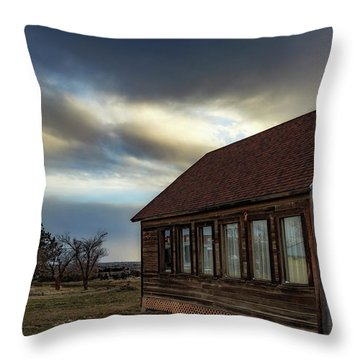 Throw Pillow featuring the photograph Shaniko Schoolhouse by Cat Connor