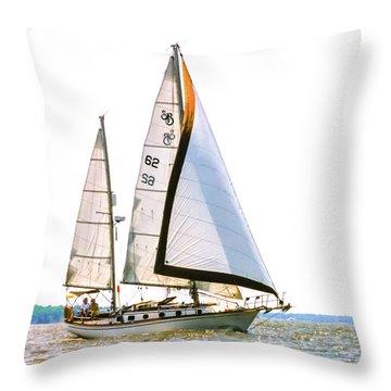 Shannon 38 Kittiwake On Chesapeake Bay Throw Pillow