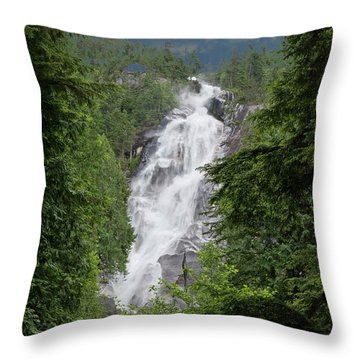 Throw Pillow featuring the photograph Shannon Falls by Rod Wiens