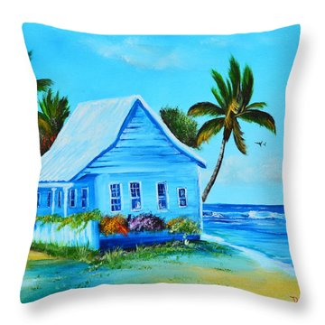 Shanty In Jamaica Throw Pillow