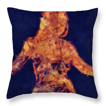 Shape Of A Woman Throw Pillow