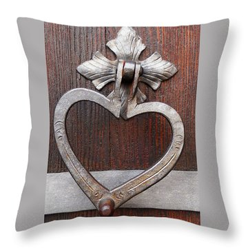 Throw Pillow featuring the photograph Shape Of My Heart by Juergen Weiss