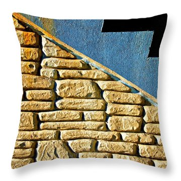 Shapes And Forms Of Station Stairway Throw Pillow