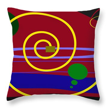 Shapes And Sizes Throw Pillow by Tina M Wenger