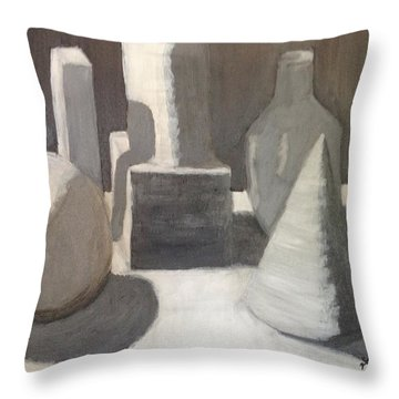 Shapes In Light And Shadow Throw Pillow