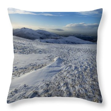 Shapes In The Ice And Far Away Throw Pillow