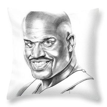 Shaquille O'neal Throw Pillow by Murphy Elliott