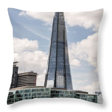 Shard Building In London Throw Pillow