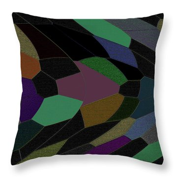 Shards Of Glass Throw Pillow