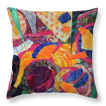 Shards Of Pottery In A Pool Throw Pillow