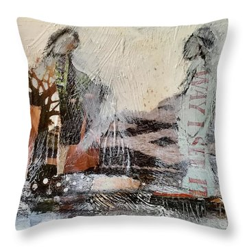 Shared Past Throw Pillow
