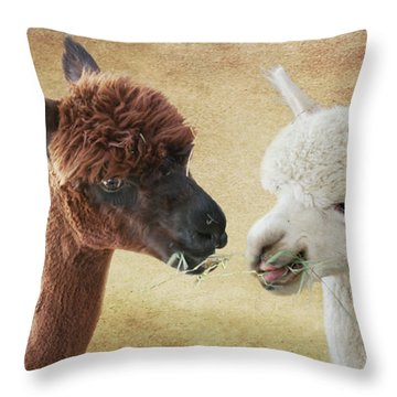 Sharing A Meal Throw Pillow