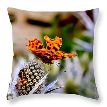 Sharing Throw Pillow by Katy Mei