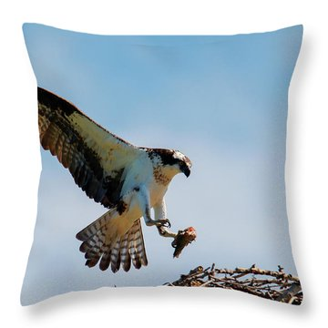 Sharing Lunch Throw Pillow