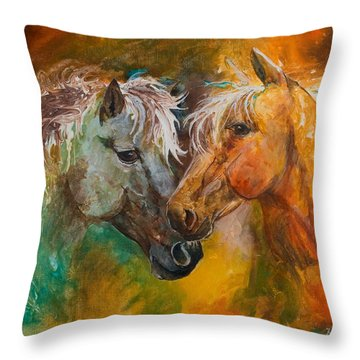 Sharing Secrets Throw Pillow by Sherry Shipley