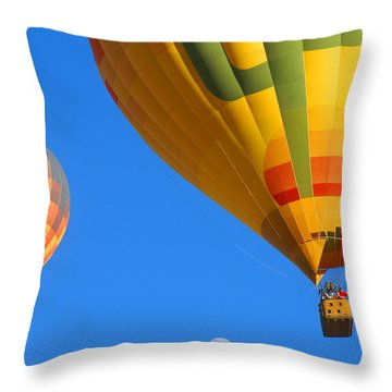 Sharing The Sky Throw Pillow