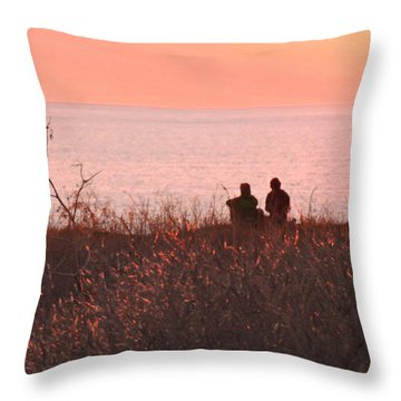 Sharing Tranquility Throw Pillow