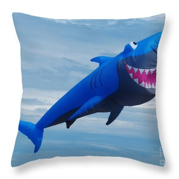 Shark Bite Kite Throw Pillow