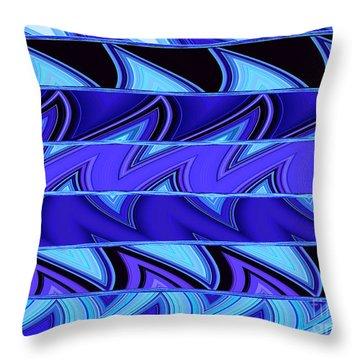 Shark Fins Throw Pillow