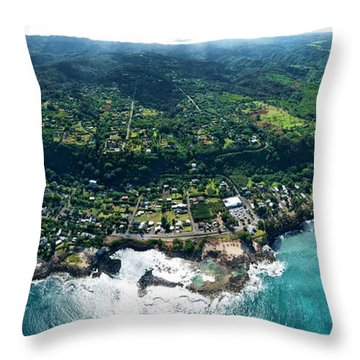 Sharks Cove - North Shore Throw Pillow