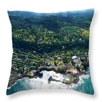 Sharks Cove Overview. Throw Pillow