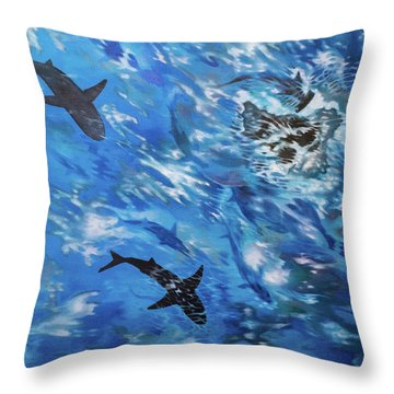 Sharks#3 Throw Pillow