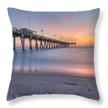 Sharky's On The Pier Throw Pillow
