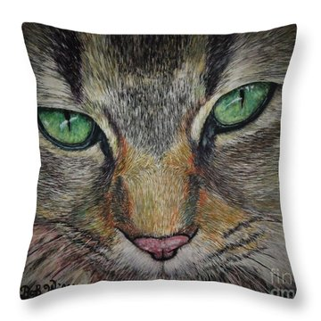 Sharna Eyes Throw Pillow