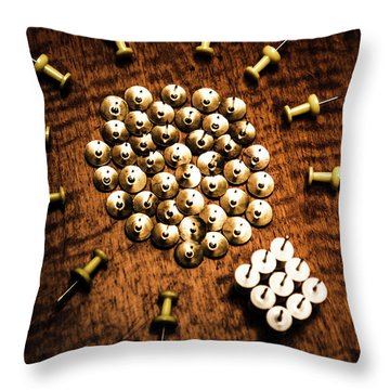 Sharp Business Idea Throw Pillow