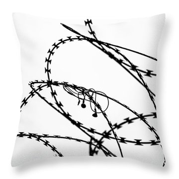 Throw Pillow featuring the photograph Sharp Sound by Clare Bambers