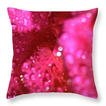 Sharp Wet Rose Throw Pillow