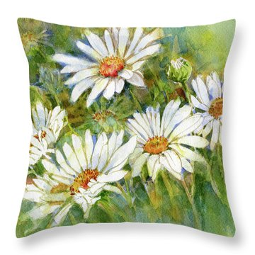 Shasta Daisies Throw Pillow