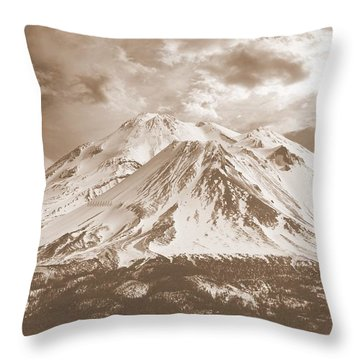 Throw Pillow featuring the photograph Shasta Mt by Athala Carole Bruckner