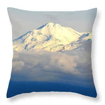 Shasta Near Sunset Throw Pillow