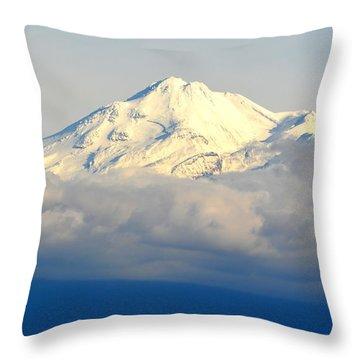 Throw Pillow featuring the photograph Shasta Near Sunset by AJ Schibig