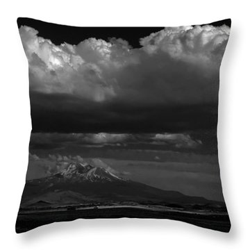 Shasta On July 17 Throw Pillow by John Norman Stewart