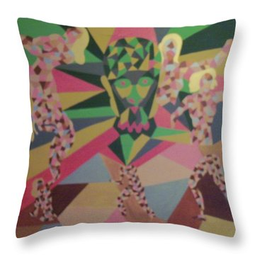 Throw Pillow featuring the painting Shattered by Erika Chamberlin