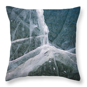 Shattered Ice Throw Pillow