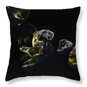 Throw Pillow featuring the photograph Shattered Illusions by Susan Capuano